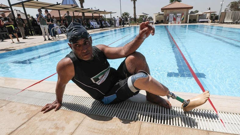 f83bc03e4 Iraqi amputees take the plunge to forget horrors of ISIS - Al ...