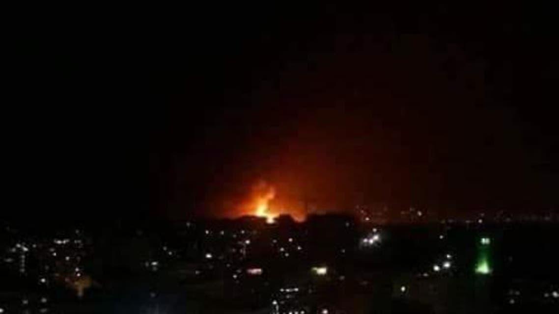 قصف صاروخي عنيف يهزّ مطار المزة العسكري في دمشق 3