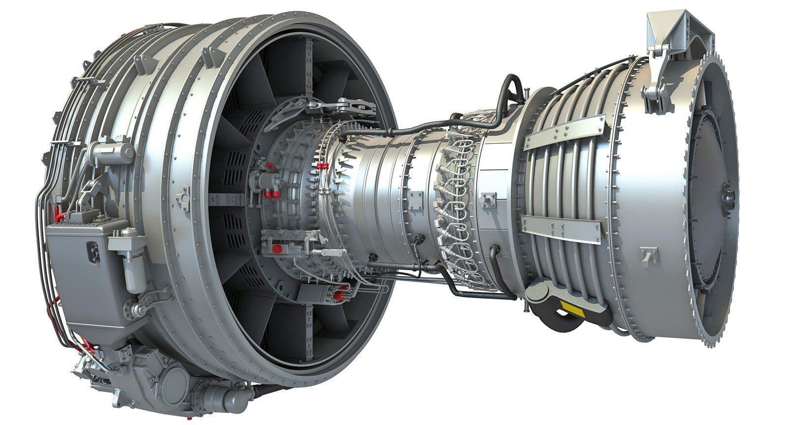 محرك turbofan