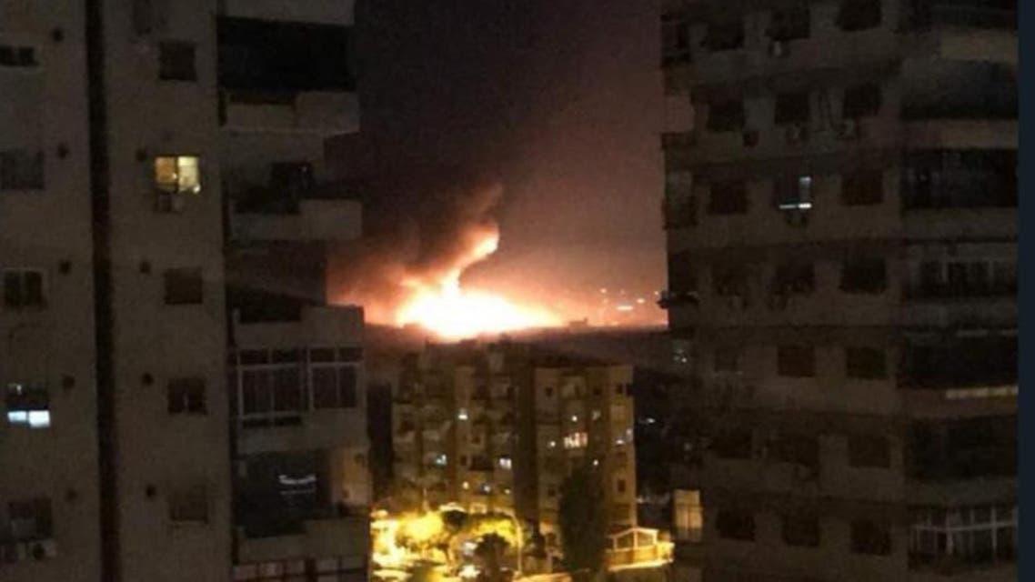 قصف صاروخي عنيف يهزّ مطار المزة العسكري في دمشق