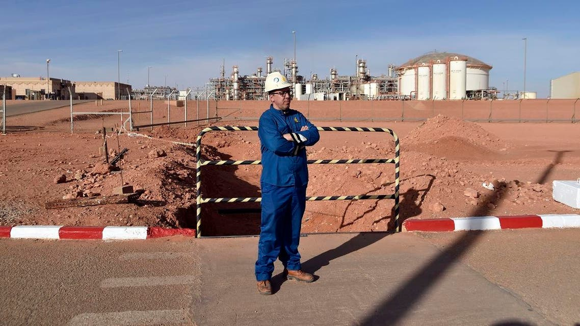 A picture shows a worker at the In Amenas gas plant, 1,300 kilometres (800 miles) southeast of Algiers. (AFP)