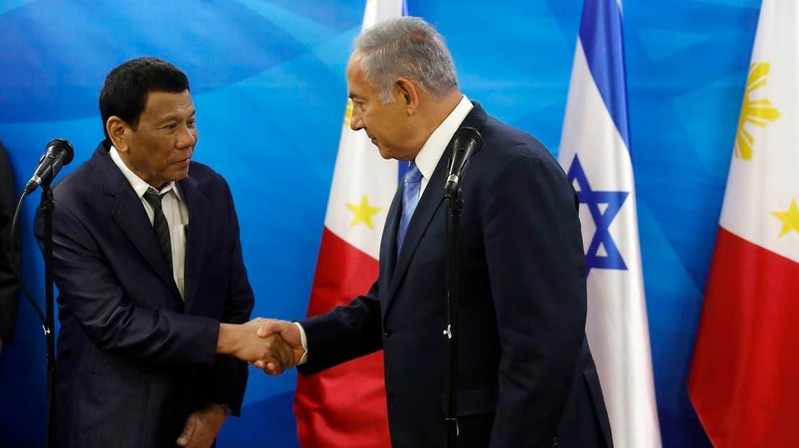 Duterte Netanyahu. (AP)