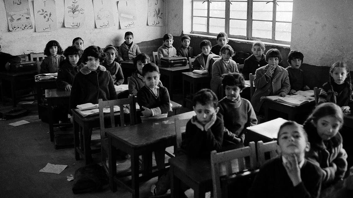 Youngsters sit in their classroom in Baghdad's Jewish Frank Iny School, one of three Jewish school in the Iraqi capital, Feb. 6, 1969. (AP)