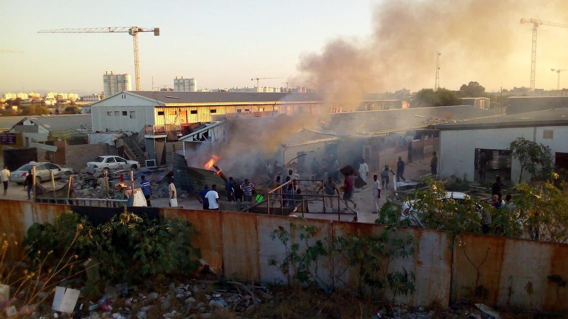 جانب من اشتباكات طرابلس - ليبيا
