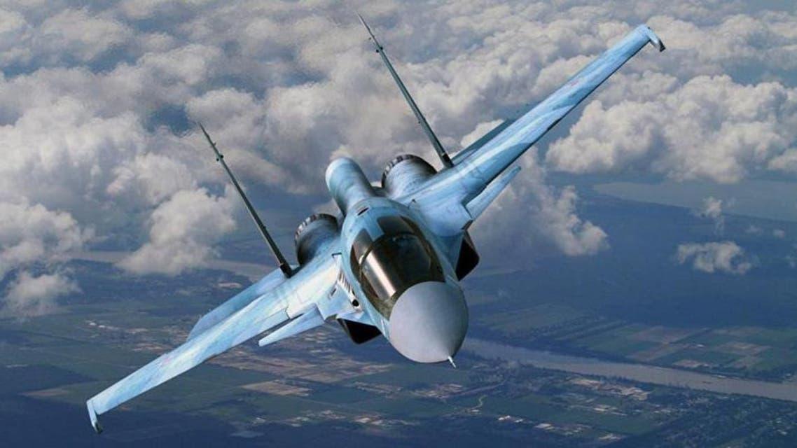جنگنده روسی در آسمان سوریه