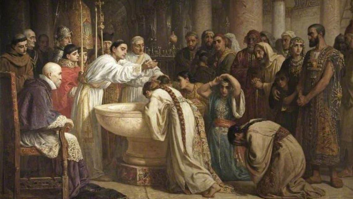 The Moorish Proselytes of Archbishop Ximenes, Granada, 1500. (Edwin Long (1829–1891) Russell-Cotes Art Gallery & Museum)