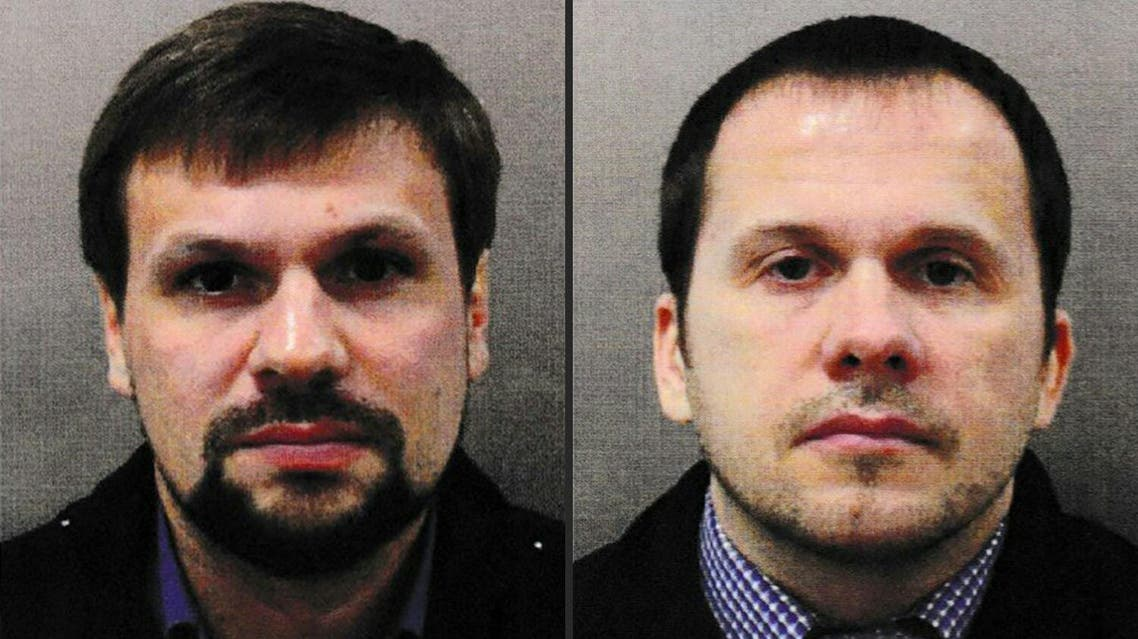 This handout pictures released on September 05, 2018 shows Ruslan Boshirov (L) and Alexander Petrov. (AFP)