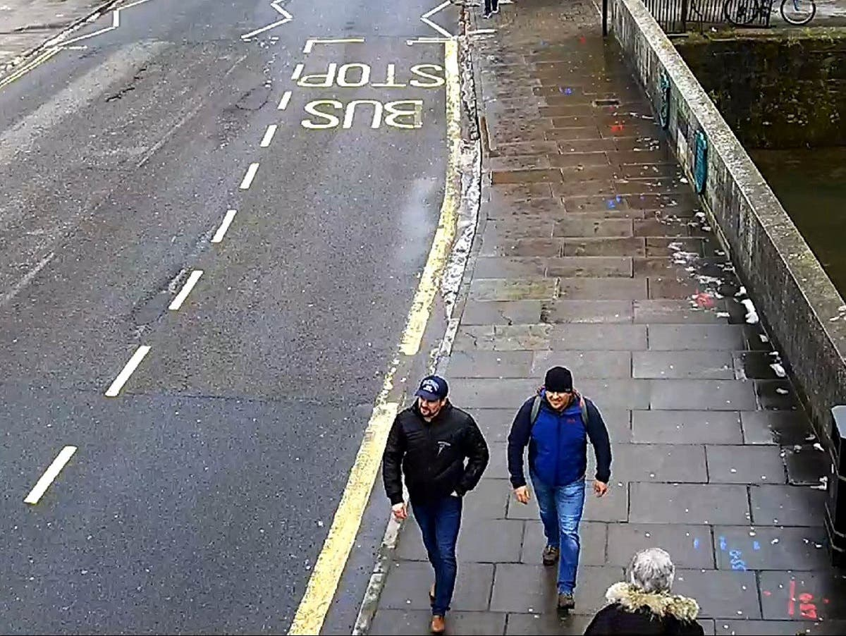 Alexander Petrov and Ruslan Boshirov, who were formally accused of attempting to murder former Russian spy Sergei Skripal and his daughter Yulia in Salisbury. (Reuters)