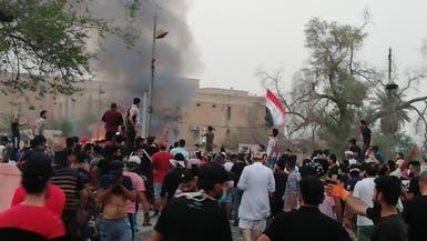 تواصل احتجاجات البصرة.. وإغلاق ميناء أم قصر للبضائع