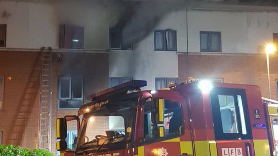 London Woolwich fire. (London Fire Brigade)