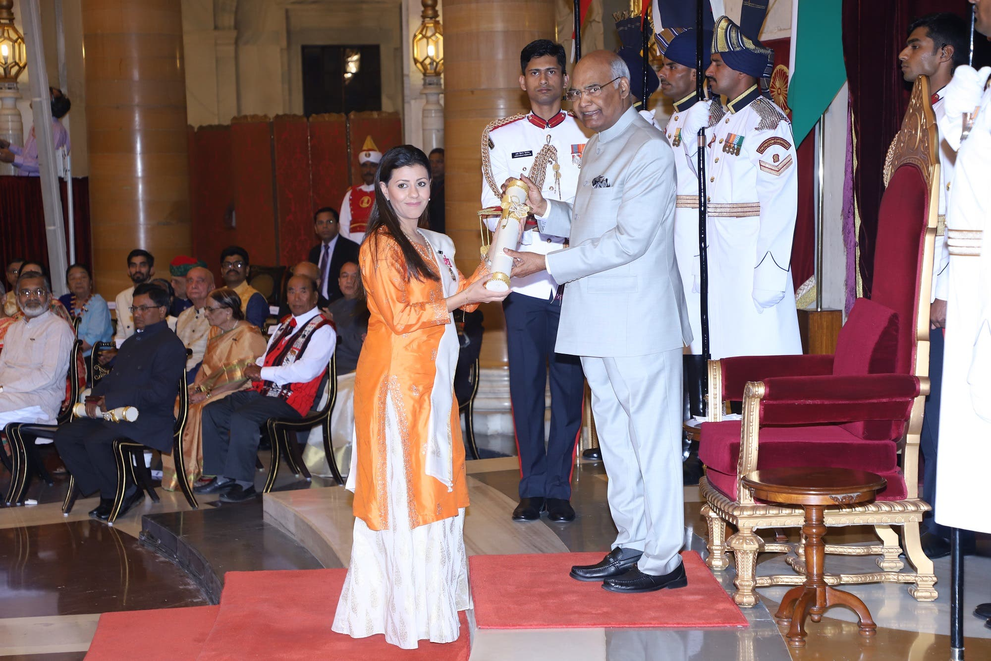 Nouf Marwaai was awarded India's leading civilian honor, Padma Shree, on 15 August 2018. (Supplied)