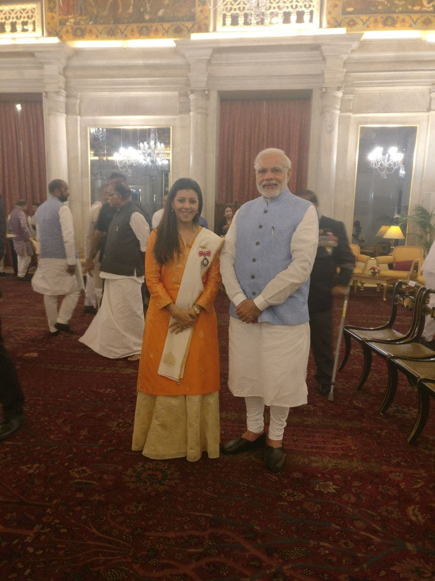 India's Prime Minister Narendra Modi has invited Nouf to contribute in the campaign called Beti Bachao and Beti Padhaao (save and educate daughters). (Supplied)