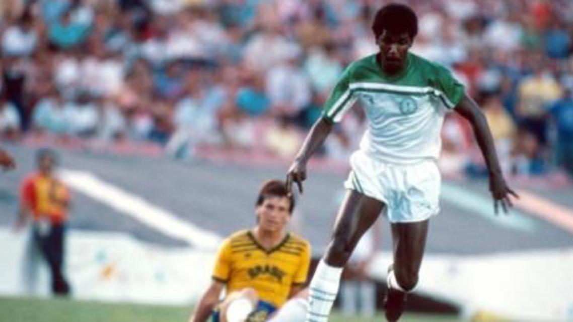 ماجد عبدالله أمام البرازيل في أولمبياد 1984