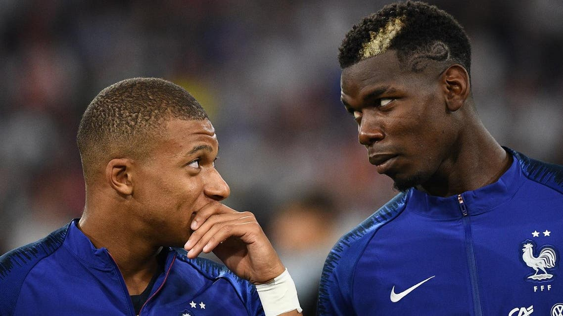 Kylian Mbappe (L) and Paul Pogba during the UEFA Nations League football match against Germany in Munich, on September 6, 2018. (AFP)