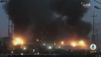 الصور الأولى لاقتحام وإحراق القنصلية الإيرانية بالبصرة