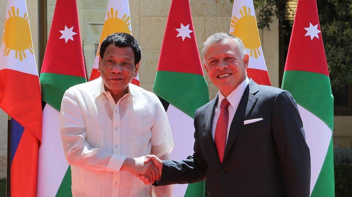 Duterte and King Abdulla (AFP)