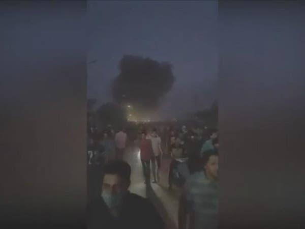 """فيديو لمحتجي العراق: """"إيران برة برة.. والبصرة تبقى حرة"""""""