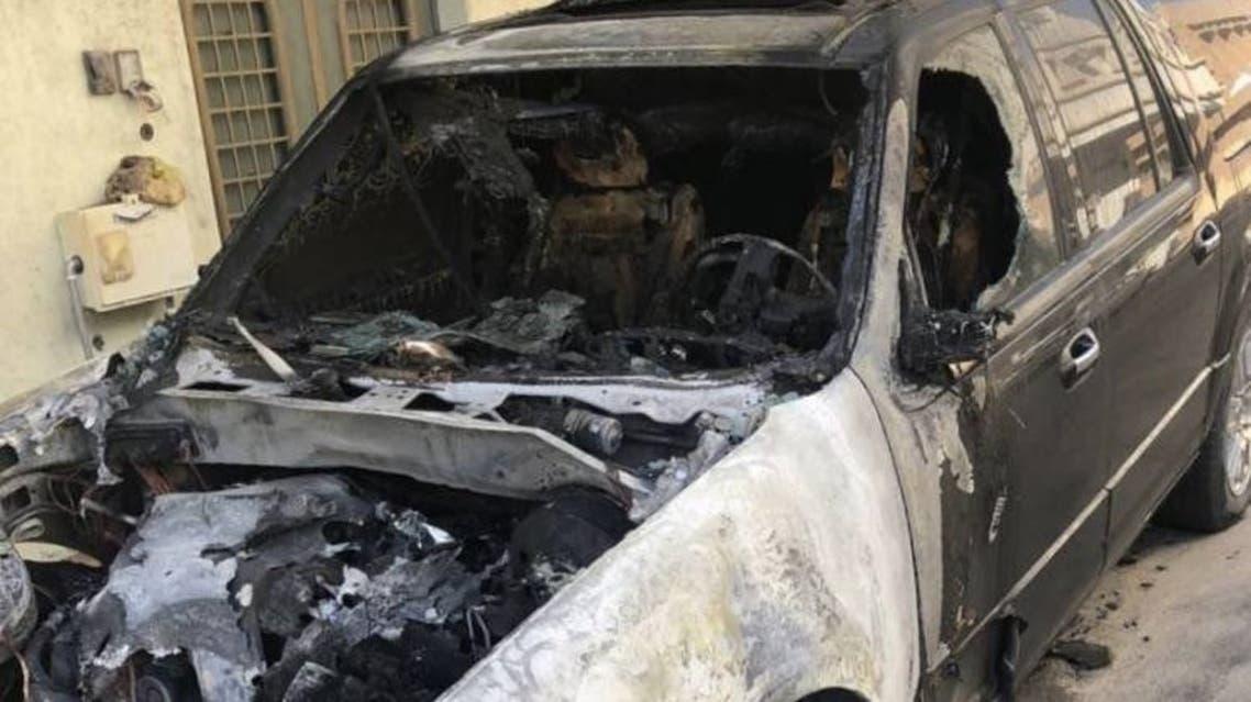 حريق سيارات في بريدة 1