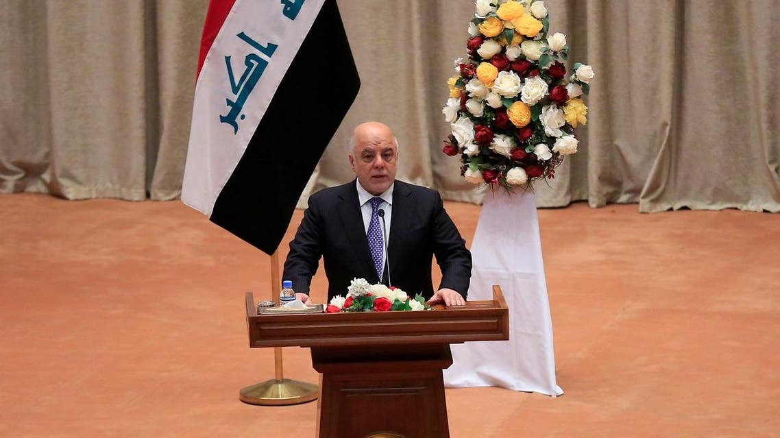 Iraqi Prime Minister Haider al-Abadi speaks during the first session of the new Iraqi parliament in Baghdad. (File photo: Reuters)