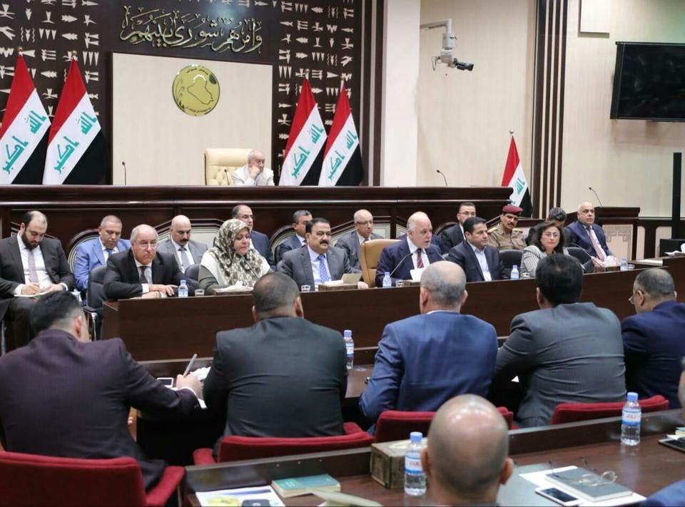 عراقی وزیراعظم حیدر العبادی  وزارتی کونسل کے ہنگامی اجلاس کی صدارت کررہے ہیں۔