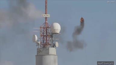 شاهد.. إطار مشتعل يحلق في سماء غزة لحرق برج إسرائيلي
