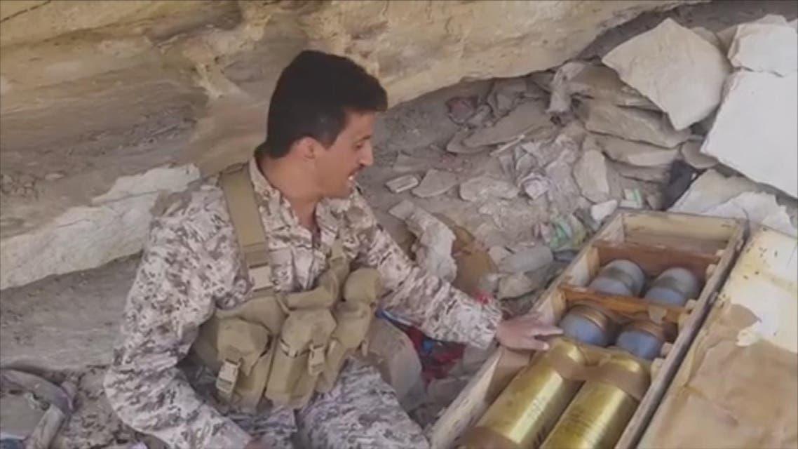 THUMBNAIL_ الجيش اليمني يسيطر على مخزن أسلحة للحوثيين في باقم