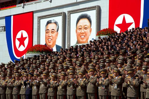 North Korea stages huge parade, holds back on advanced missiles AP