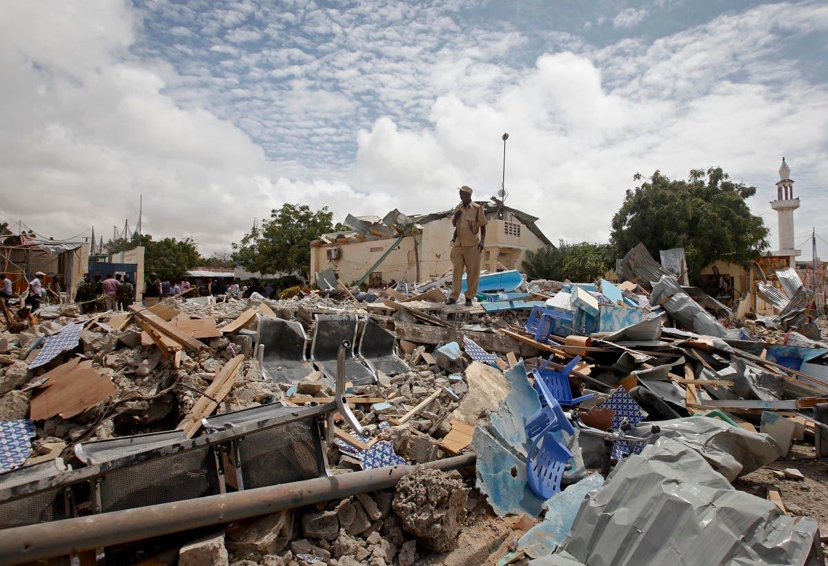 Somalia blast. (AP)