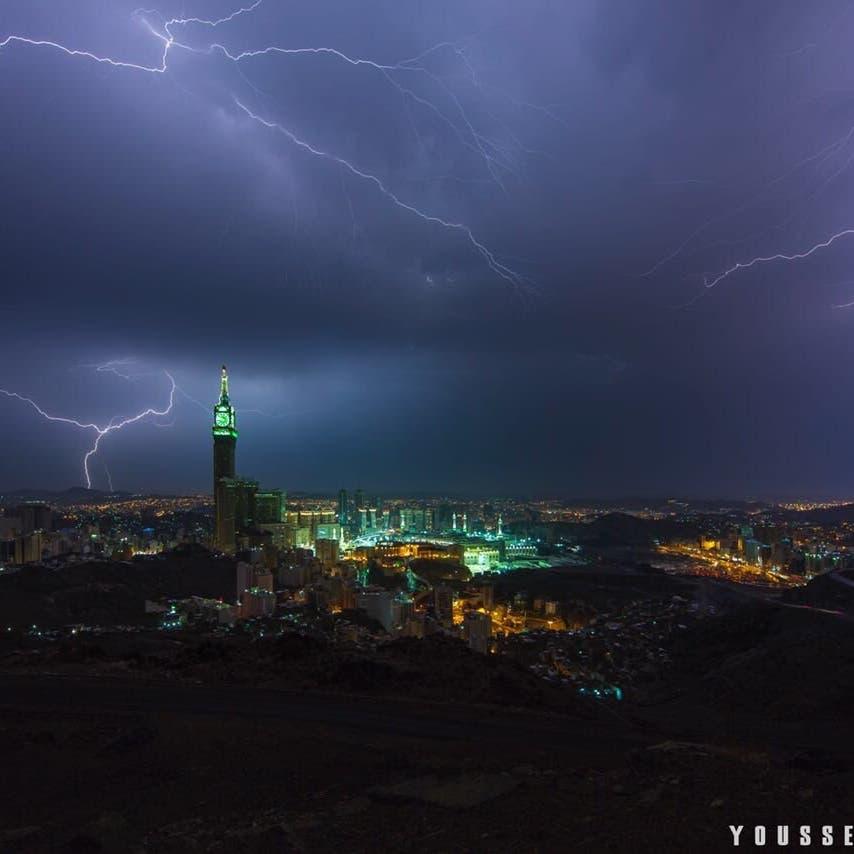 رمضان کی آمد کے ساتھ سعودی عرب کے وسیع حصے میں بارشیں متوقع