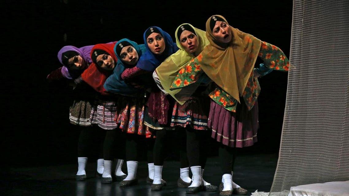 Iranian play theater. (File photo: AP)