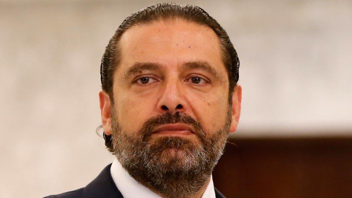 Lebanese Prime Minister-designate Saad al-Hariri gestures as he speaks at the presidential palace in Baabda, Lebanon September 3, 2018. REUTERS/Mohamed Azakir