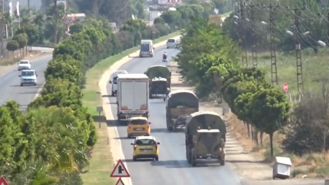آليات عسكرية تركية داخل سوريا