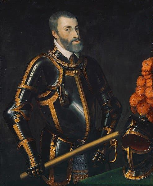 صورة لملك إسبانيا شارلكان