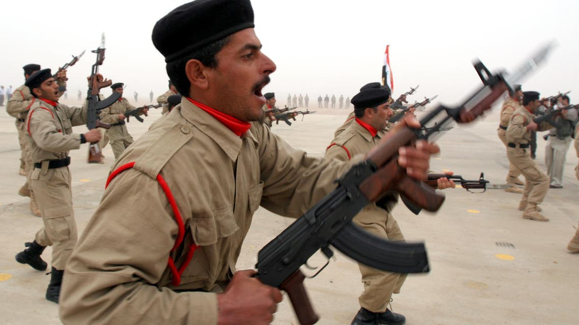 Iraqi policemen conduct an exercise during a Police Academy graduation ceremony in Basra on Dec. 21, 2006. (File photo: AP)