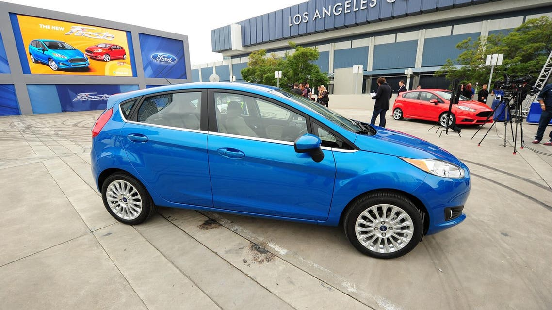 Ford's new Fiesta ST hatchback vehicle is displayed at the Los Angeles Auto show in on November 28, 2012. (File photo: AFP)