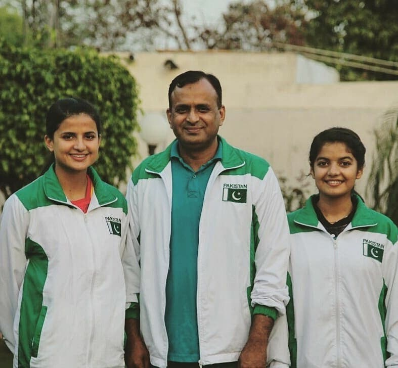 Masood Sisters are grateful to their father who didn't leave any stone unturned to make them excellent athletes. (Supplied)