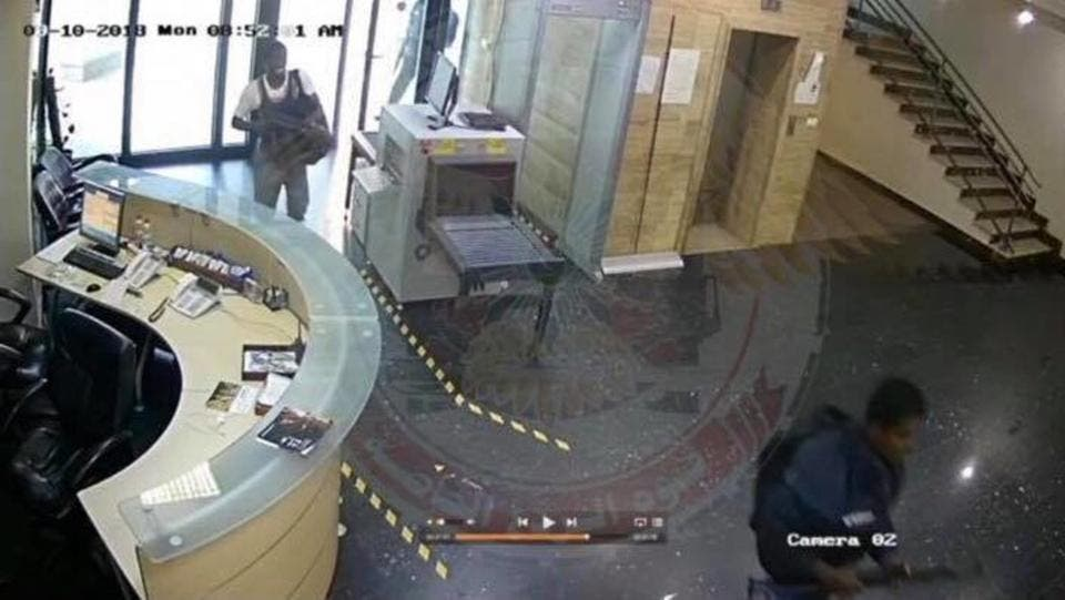 The cameras also recorded the moment when the gunmen blew themselves up. (Supplied)