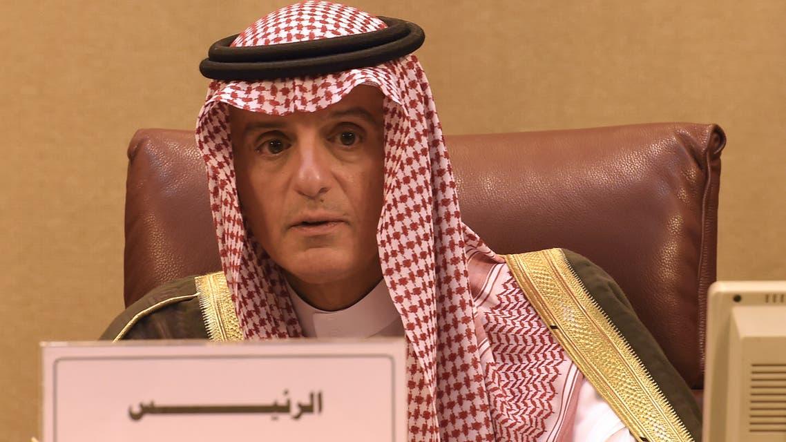 الجبير خلال اجتماع وزراء الخارجية العرب