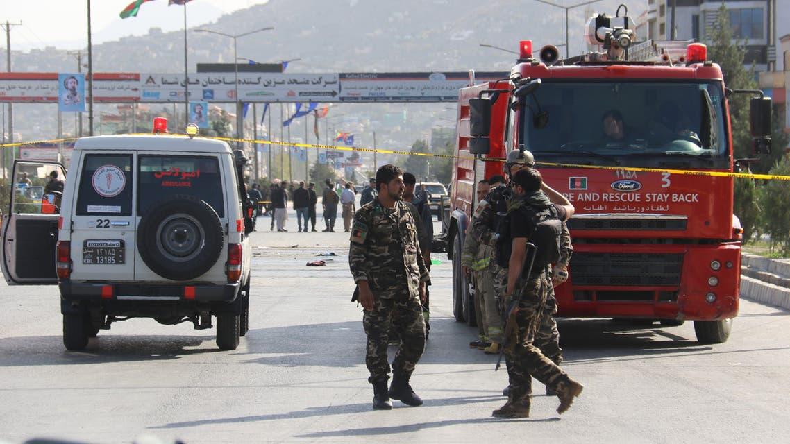 موقع انفجار في أفغانستان