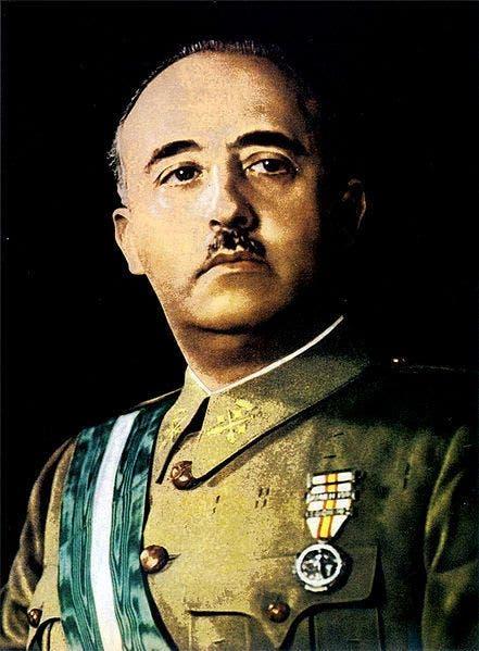 صورة للدكتاتور الإسباني فرانكو