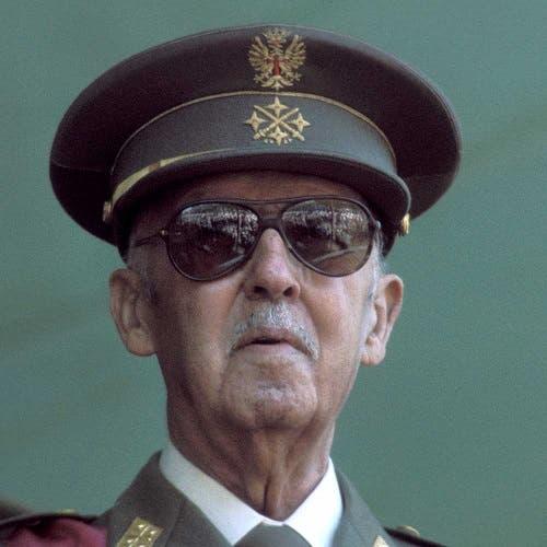 صورة للدكتاتور فرانكو خلال السنوات الأخيرة من حياته