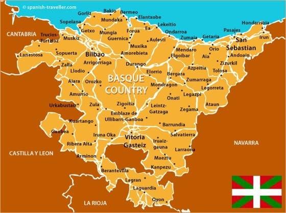 خريطة إقليم الباسك