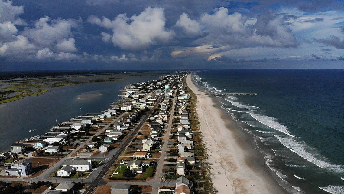 A mandatory evacuation is in effect in preparation of the approaching Hurricane Florence in Topsail Beach, North Carolina on September 11, 2018. (AFP)