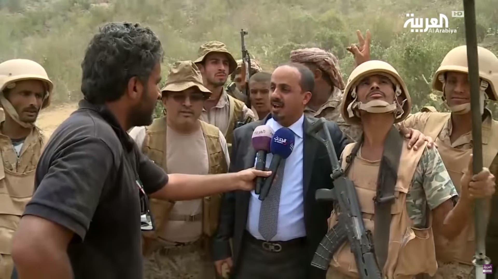 Yemeni information minister Muammar al-Iryani