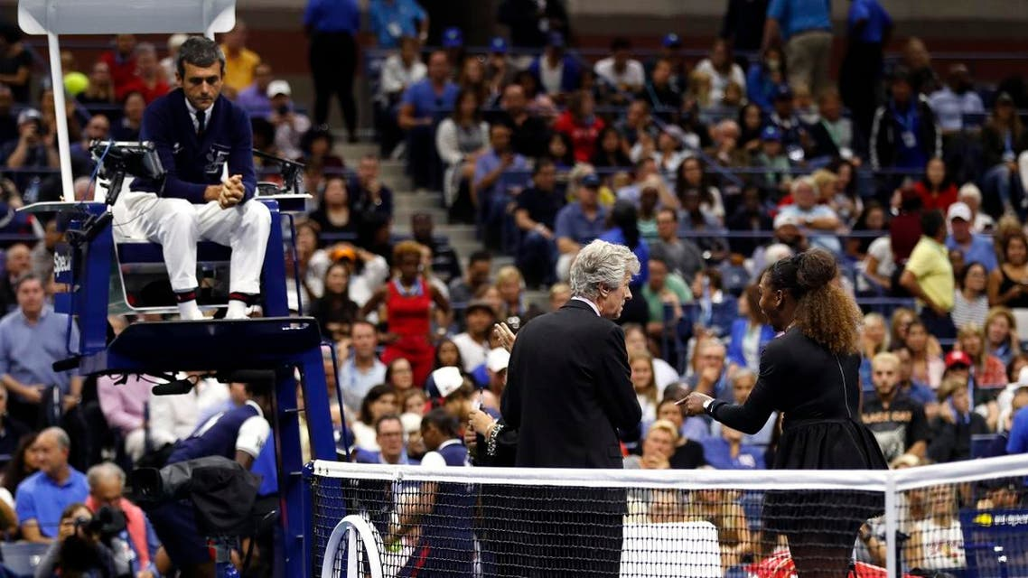Serena williams and umpire ramos. (AP)s
