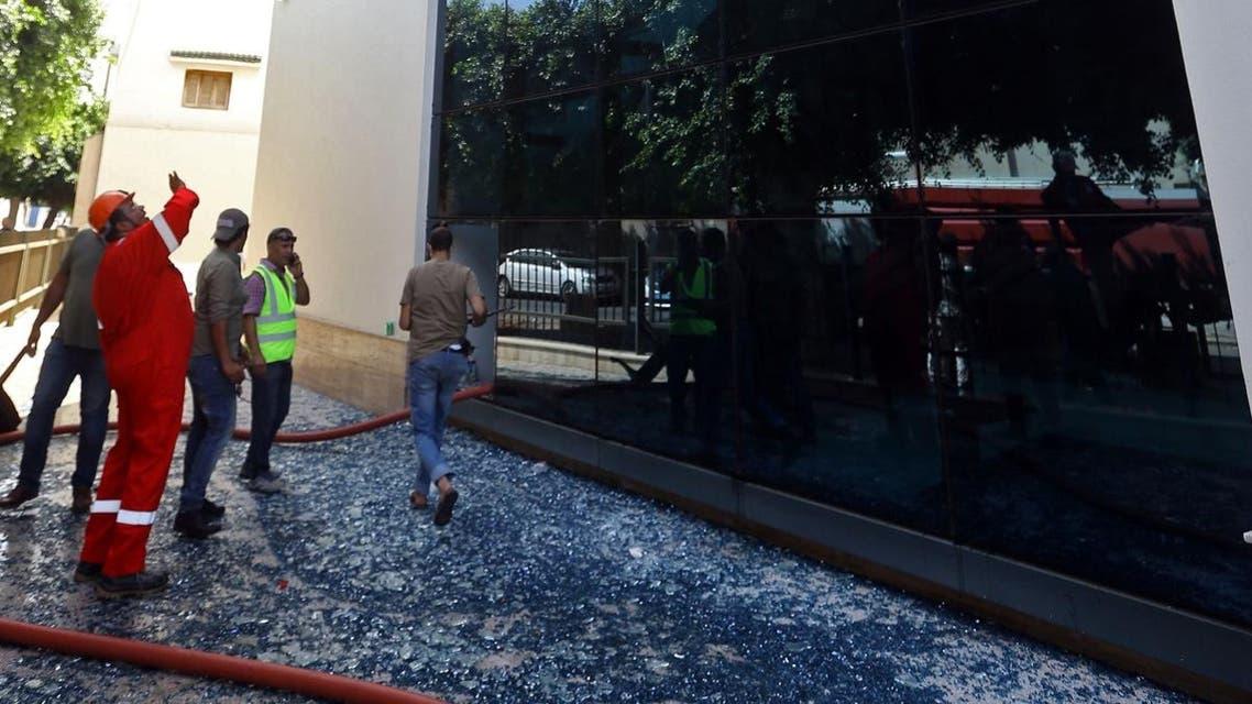 Libya oil company attack. (AFP)