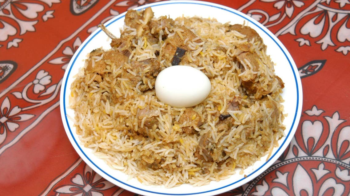 Hyderabadi Biryani is typically made with mutton or chicken and almost always accompanied by tangy chilly curry. (Supplied)