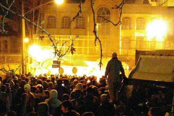 اقتحام واحراق السفارة السعودية في طهران