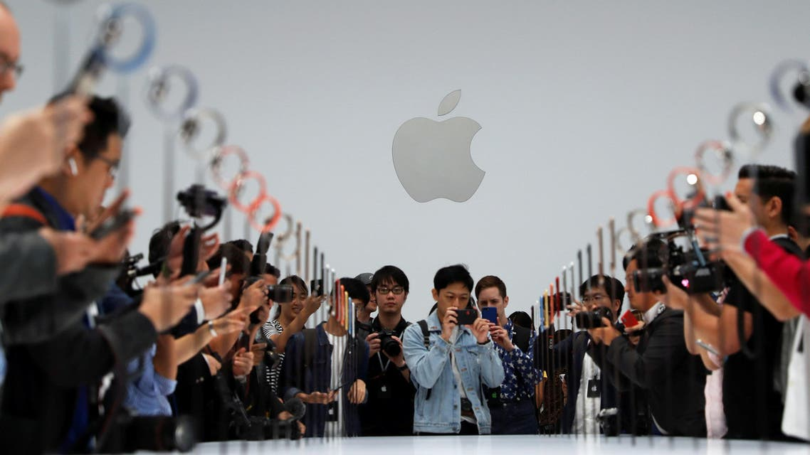A demonstration of the newly released Apple products following the launch in California on 12, 2018. (Reuters)
