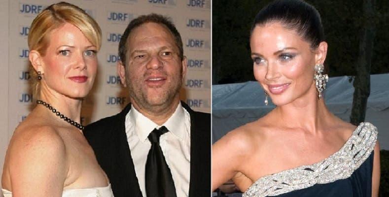 زوجتاه،  الأولى الى اليمين طلقته منذ عام، والثانية تحررت بالطلاق في 2004 بعد 17 سنة زواج